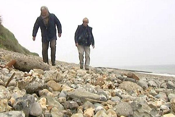 Ces passionnés de Sainte-Adresse ont retrouvé sur la plage des vestiges de la ville du début du siècle.