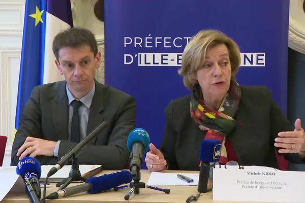 Le directeur de l'ARS et la préfète de Bretagne ont tenu un point presse commun jeudi 12 mars.