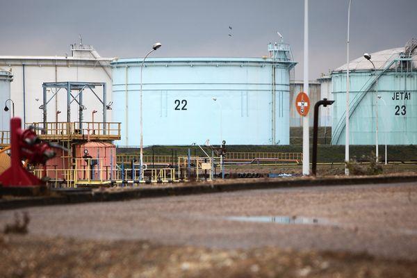 Le dépôt pétrolier de Gargenville, dans les Yvelines.