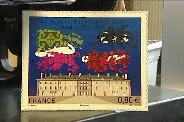 Ce timbre édité à l'occasion du 10e anniversaire du Centre national du Costume de Scène de Moulins sera produit à 1 million d'unités.