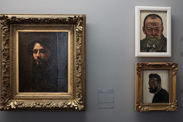 A gauche G.Courbet à Droite F.Hodler