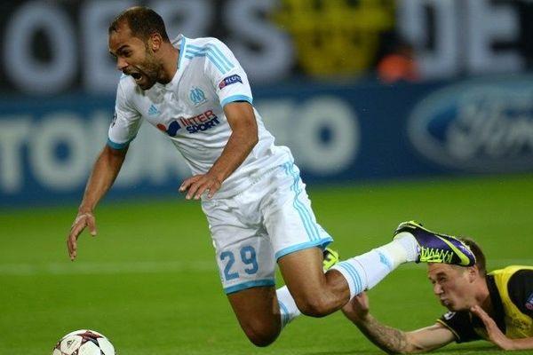 Saber Khalifa lors du match contre Dortmund