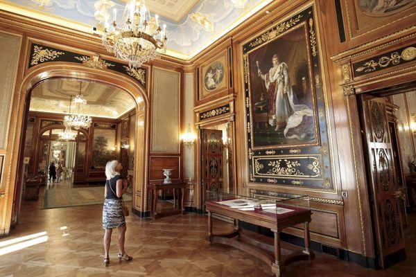 Le tableau de Napoléon 1er en costume du Sacre par le baron François Gérard (reproduction). Photo d'archives, le musée est pour l'heure fermé à cause des mesures sanitaires.