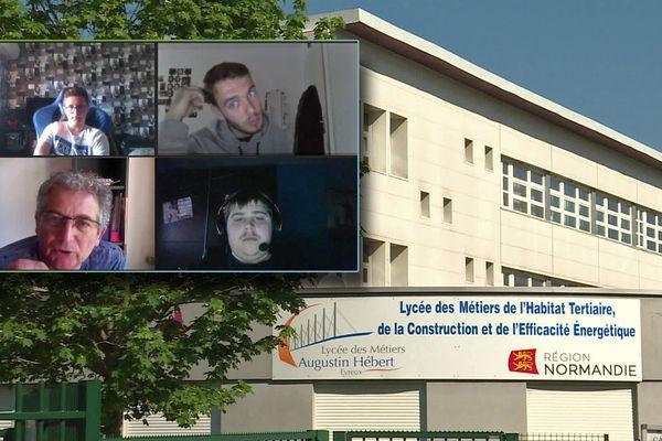 23 avril 2020 - Cours de soutien à distance via Internet pour préparer le Bac pro au lycée Augustin Hébert d'Evreux