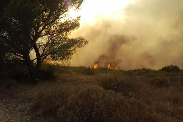 Incendie à Collias dans le Gard - 27 août 2017 / illustration