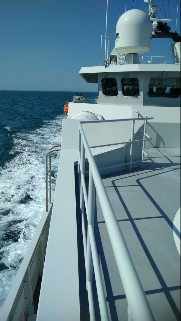 A bord du patrouilleur Thémis où la commission a embarqué
