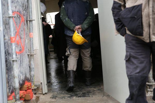 Des ouvriers sur un chantier de construction - Photo d'illustration