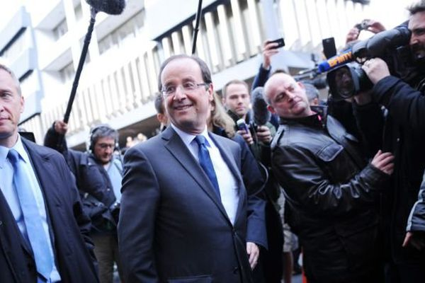 TULLE LE 22/04/2012 : Bernard Combes avec François Hollande