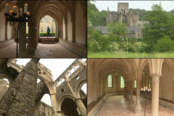 Une des nos équipes vous fait découvrir la sérénité de l'Abbaye d'Hambye