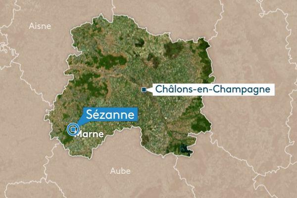 L'accident s'est déroulé aux abords de Sézanne, sur la nationale 4