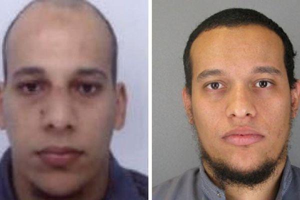 Portraits de Chérif Kouachi et Said Kouachi diffusés par la préfecture de police de Paris, le 8 janvier 2015.