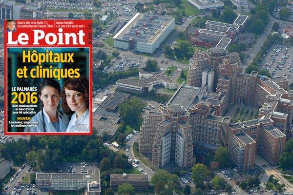 Le CHRU de Lille, 2ème au classement 2016 des hôpitaux français.