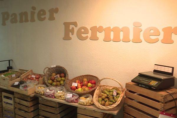 """La boutique s'appelle """"Le Panier Fermier"""""""