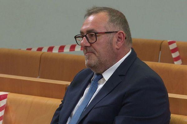 Patrice Gausserand, le maire de Gaillac, sur le banc des prévenus, le 2 juillet 2020.