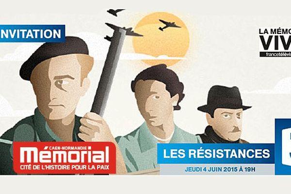 """L'épisode N°3 du webdocumentaire Les Résistances """"Du Nord à la Vendée"""" est présenté au Mémorial de Caen le 4 juin 2015"""