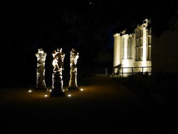 Les visites nocturnes permettent de redécouvrir le Parc de sculptures avec un oeil neuf