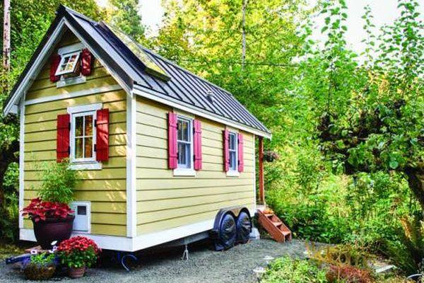 """Une """"tiny  house"""", sur 16 m² et 4 roues, une mini maison écolo pour maxi liberté"""