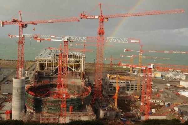 Le chantier de l'EPR à Flamanville