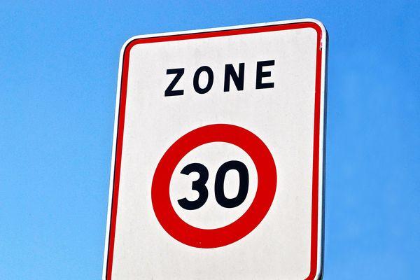 La limitation de vitesse a été abaissée à 30km/h dans le cœur de ville de Château-Thierry depuis le 1er avril 2019. Photo d'illustration.
