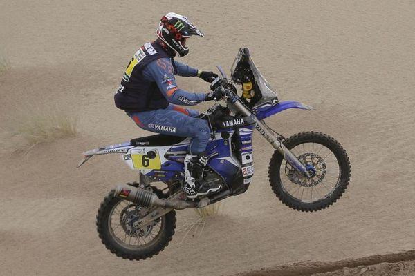 Adrien Van Beveren photographié en Bolivie le 9 janvier lors du précédent Dakar.