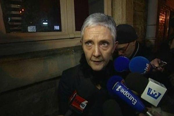L'avocate de la mère d'Adélaïde, Me Roy-Nansion, samedi soir à la sortie du tribunal de Boulogne-sur-mer