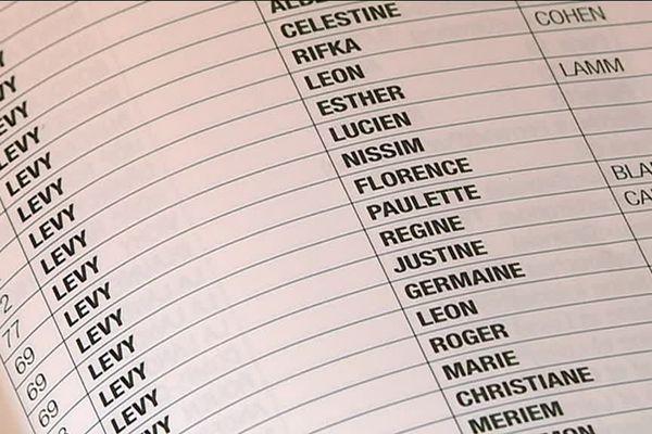 Sur cette liste se trouve Paulette Lévy mais également sa mère, Régine et sa soeur Florence.