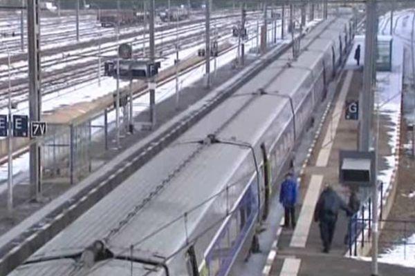 Train en gare de Limoges-Bénédictins ( photo d'illustration)
