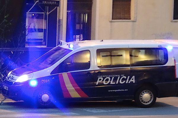 La police espagnole en intervention