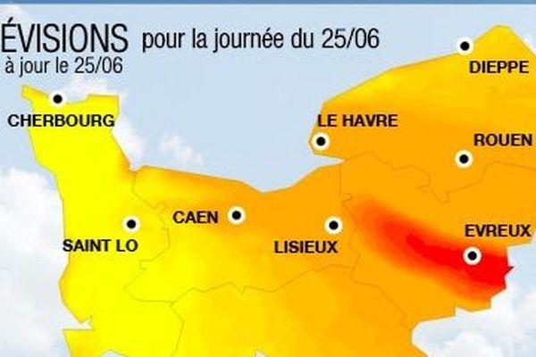La Seine Maritime, l'Orne et l'Eure sont en alerte pollution pour toute la journée du 25 juin 2020. En cause : la météo estivale.