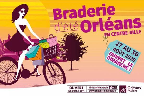 La braderie d'été d'Orléans se tiendra des 27 au 30 août 2020.
