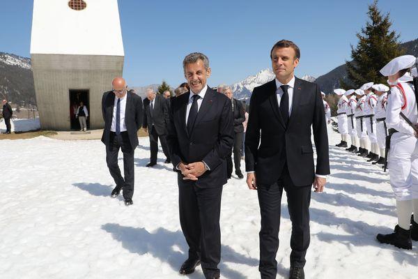 Emmanuel Macron et Nicolas Sarkozy ont commémoré ensemble le 75e anniversaire de la fin du maquis des Glières.