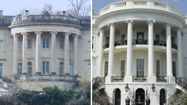 Deux façades identiques, à 7650 km de distance