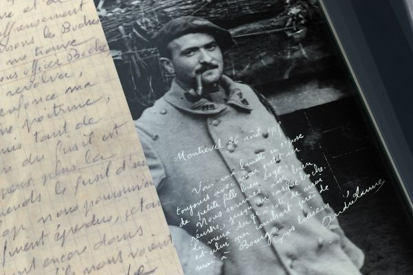 Image d'illustration - Lettre de Poilus exposée à l'Historial franco-allemand de la Grande Guerre du Hartmammswillerkopf à Wattwiller (Haut-Rhin)