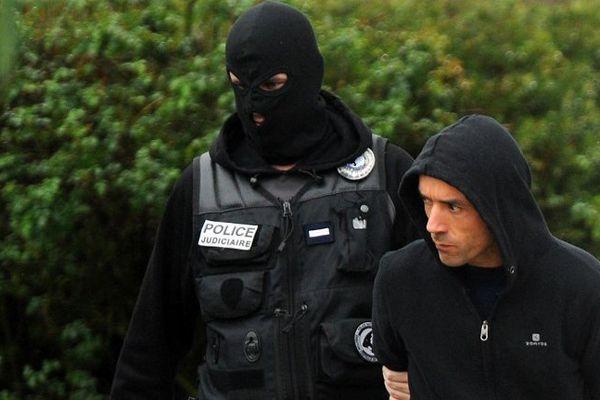 Mikel Irastorza, leader présumé de l'organisation terroriste, lors de son arrestation  à Ascain le 5 novembre 2016.