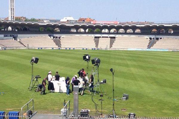 """Émission spéciale """"Aquitaine, terre de rugby"""", enregistrée dans l'enceinte du Stade Chaban-Delmas de Bordeaux"""