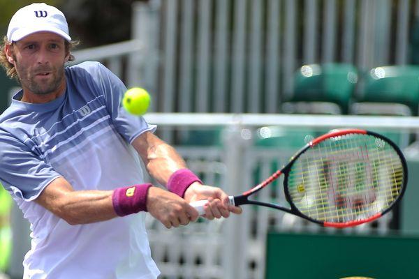Stéphane Robert, ici au tournoi de Miami en mars dernier, n'a rien pu faire face à Gregor Dimitrov