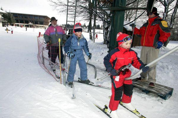 La station de ski de Laguiole en Aveyron.