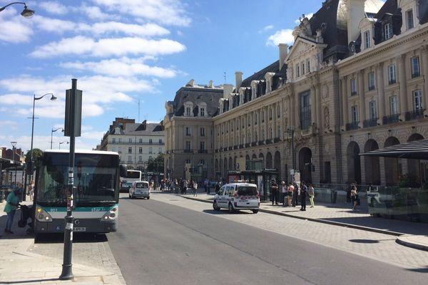 La place de la République à Rennes
