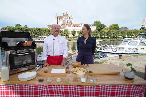 Pour cette recette au panais, Marc et Marie ont choisi les bords de l'Yonne à Auxerre.