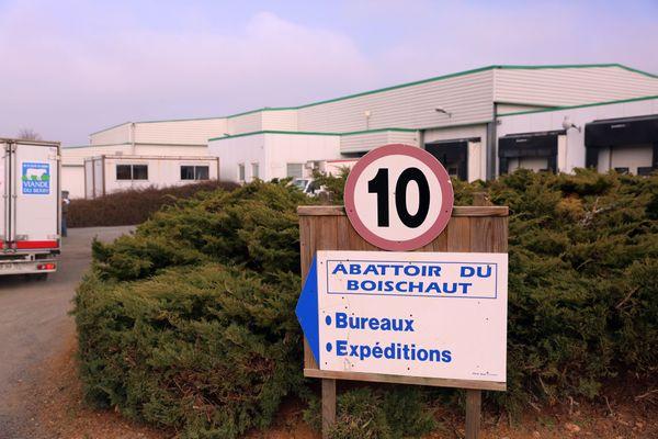 L'entrée de l'abattoir du Boischaut, dans l'Indre.