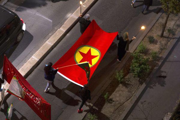 Manifestation pour la libération de membres du PKK, le 21 mars 2019. Image d'illustration