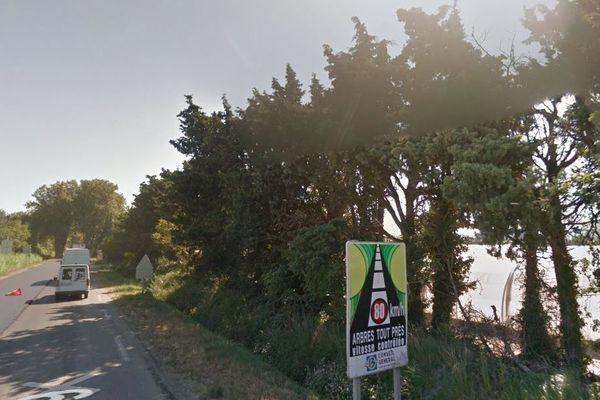 La voiture a percuté un platane sur la RD 99 à Saint Rémy de Provence