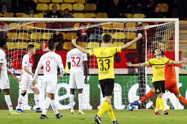 Ce 11 décembre au stade Louis II lors du match entre l'AS Monaco et le Borussia Dortmund.