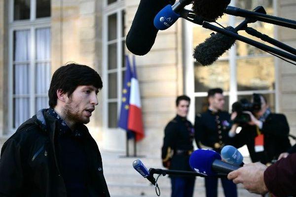 Jason Herbert, après avoir quitté le rendez-vous à Matignon, ce vendredi 30 novembre.