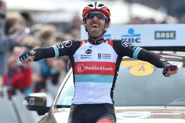 Le Suisse Fabian Cancellara (RadioShack-Leopard) vainqueur du Tour des flandres