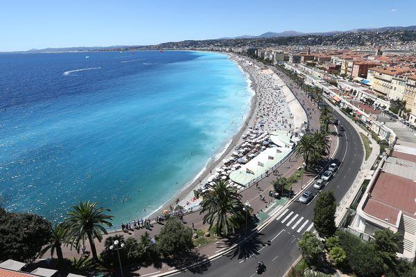 La promenade des Anglais, à Nice, août 2017