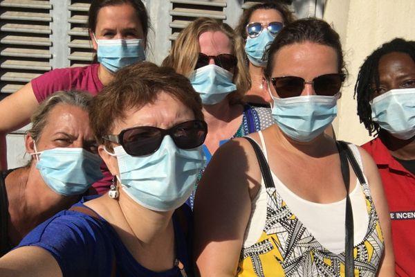 L'équipe de réanimation du CHRU de Nancy en mission en Guyane. Elle est en renfort au centre hospitalier de l'ouest guyanais pour lutter contre l'épidémie de coronavirus