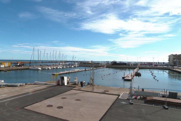 Les bateaux se font rares dans le Port de Valras-Plage, où des travaux de rénovation vont avoir lieu. / 27 octobre 2020.