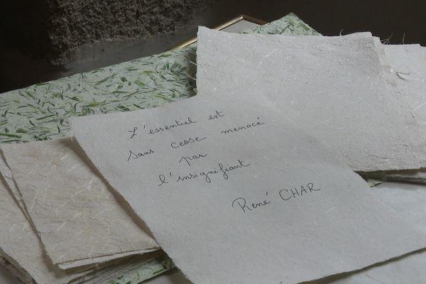 Le Moulin-du-Got propose plusieurs papiers à base d'épluchures de légumes.
