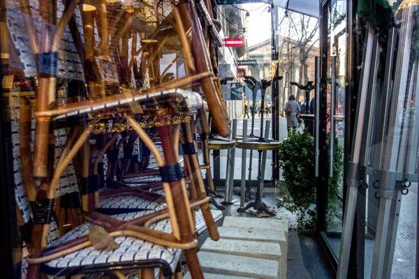 Un établissement fermé à Paris, le 7 janvier 2021 (illustration).